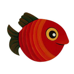 Wooden Wall Decoration --- Red Fish