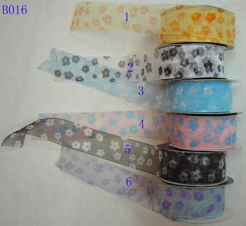 printed sheer ribbon