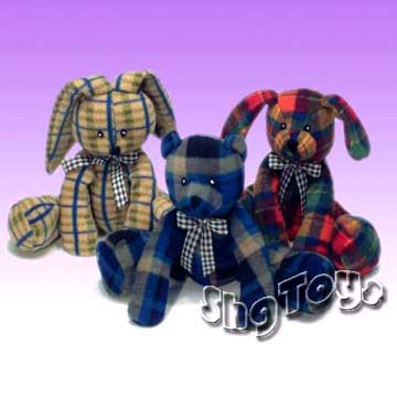 Stuffed Plaid Animals