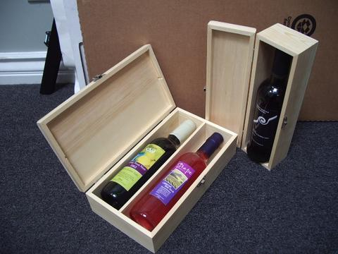 wood wine boxes