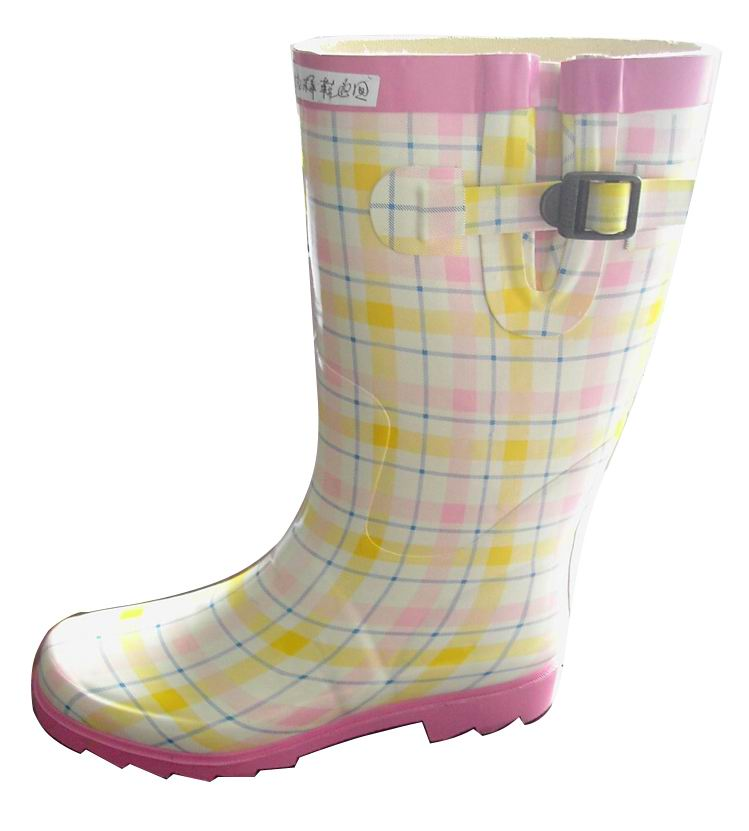 color printing rubber boots
