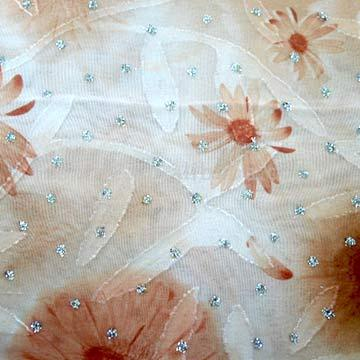 Chiffon with Cut-Flowers Fabric