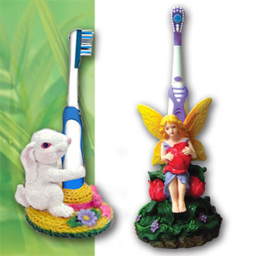 Battery Power Toothbrushes with Customized Stands