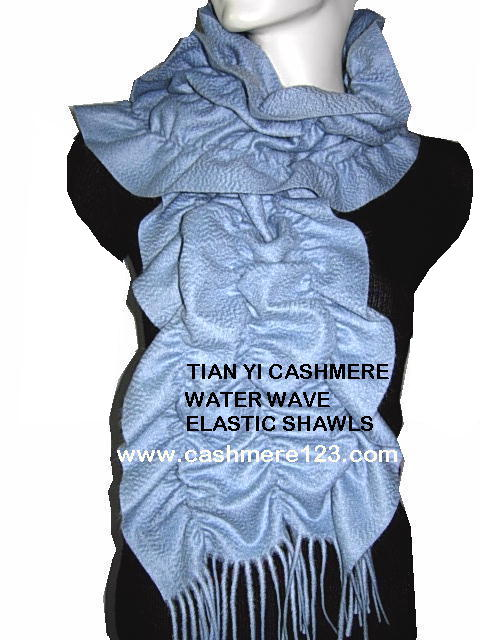 Cashmere,wool pleated scarf