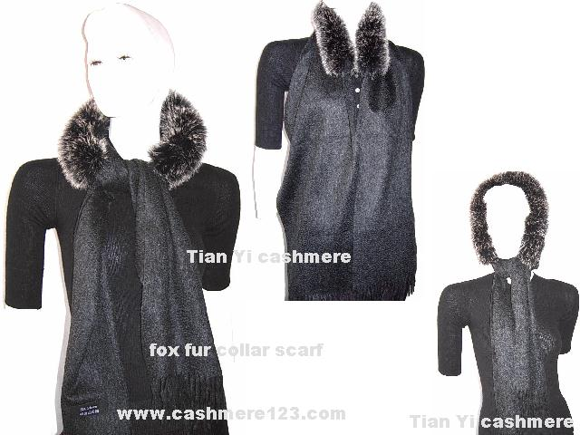fox fur collar scarf
