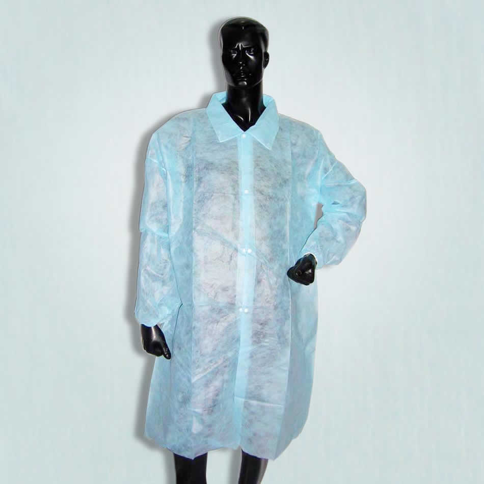 lab coat with shirt collar