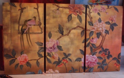 Chinese artwork -decorative designs oil painting