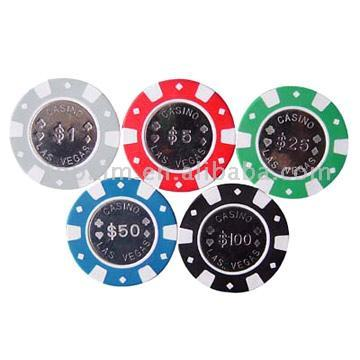 Metal Inlay Poker Chips