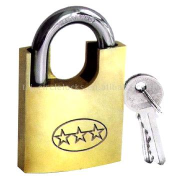 Wrapped Brass Arc Beam Padlocks