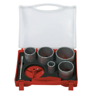 7pc Tungsten Carbide Gritted Hole Saw Sets