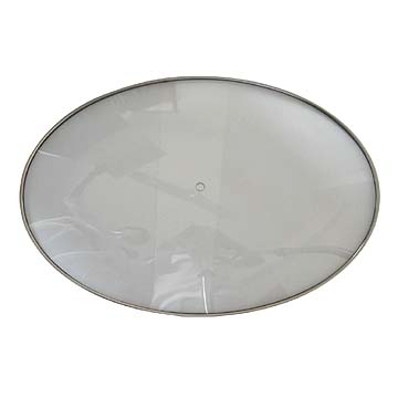 Oval Tempered Glass Lids