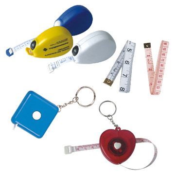 Cloth Tape Measure and Keychains
