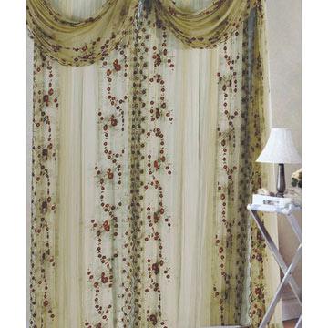 Embroidered Window Curtain