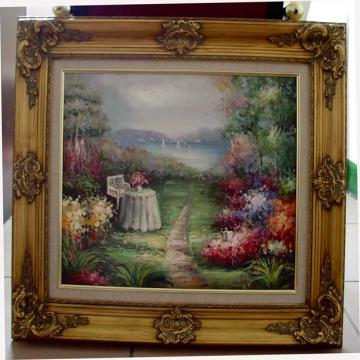 Wooden Frame With Oil Paintings