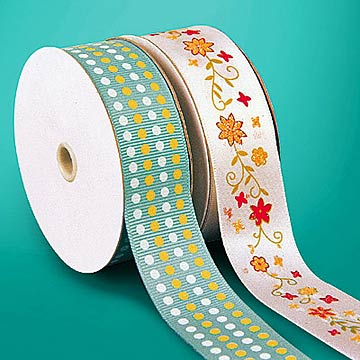 Pigment and Puff Printed Ribbon