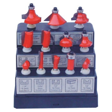 12-Piece Router Bit Sets