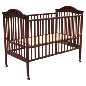 High Lever Wooden Baby Bed, Crib