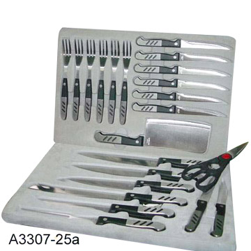 25 Piece Knife Sets in Case
