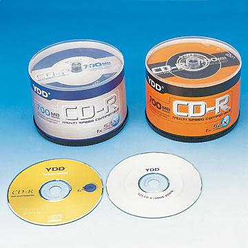 Printed CD-R in Cake-Box Packs