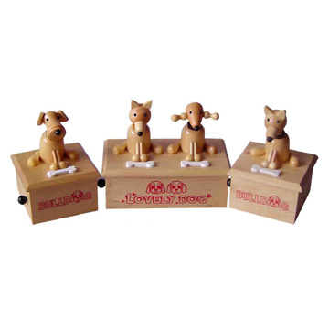 Wooden Musical Dogs