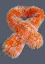 Oringe snow-top fox fur knitted scarf