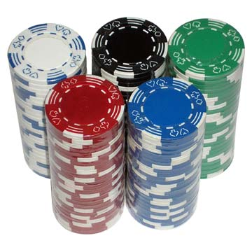Double Poker Border Chips