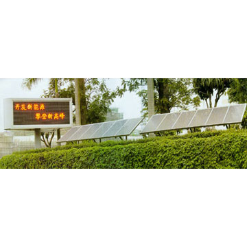 Solar Energy Powered Outdoor Display Screens