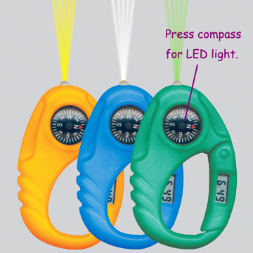 Carabiner Compass Watch with LED light